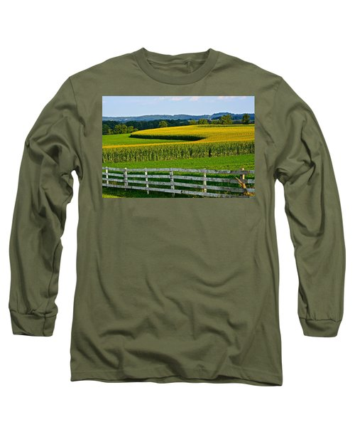 Shapely Cornfield 1 Long Sleeve T-Shirt