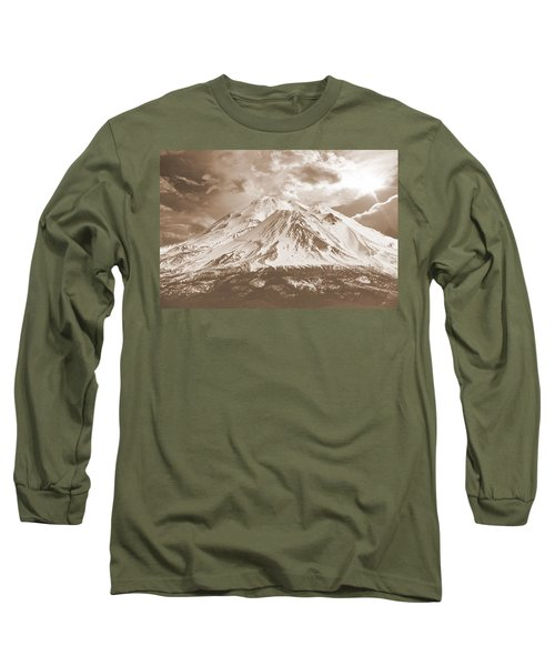 Shasta Mt Long Sleeve T-Shirt by Athala Carole Bruckner