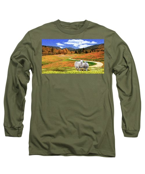 Sheep And Road Ver 2 Long Sleeve T-Shirt