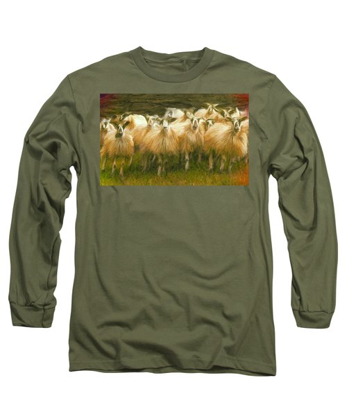 Sheep At Hadrian's Wall Long Sleeve T-Shirt