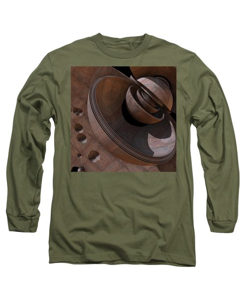 Long Sleeve T-Shirt featuring the digital art Shell Game by Lyle Hatch