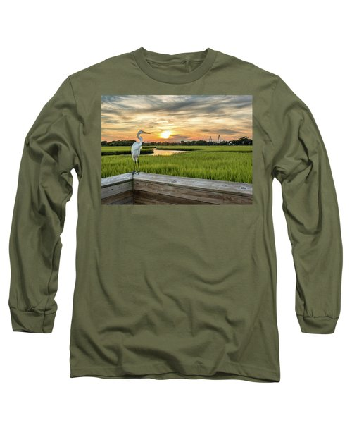 Shem Creek Pier Sunset Long Sleeve T-Shirt