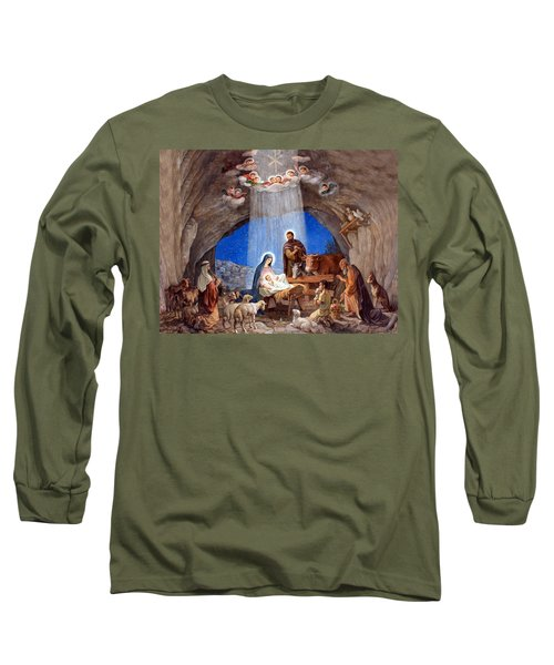Shepherds Field Nativity Painting Long Sleeve T-Shirt