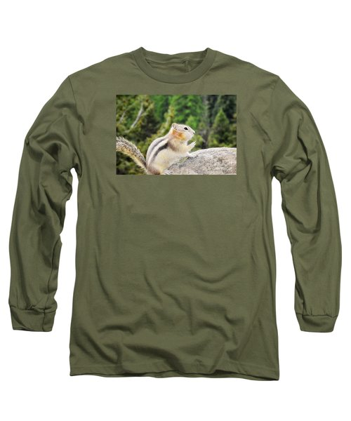 Shhhh Quiet Please Long Sleeve T-Shirt by Janie Johnson