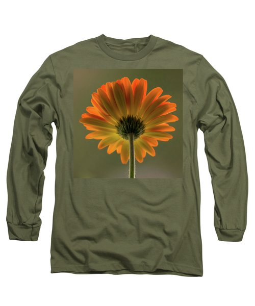 Shine Bright Gerber Daisy Square Long Sleeve T-Shirt by Terry DeLuco