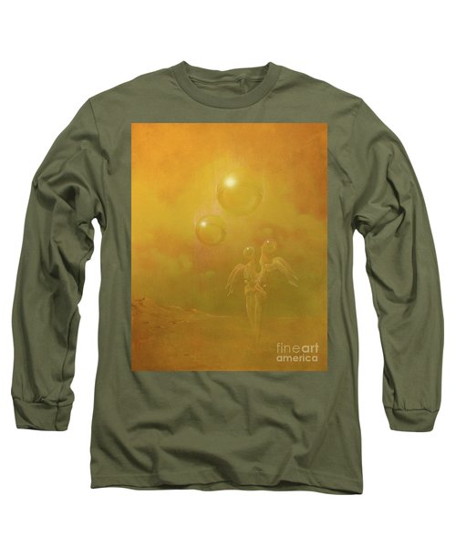 Long Sleeve T-Shirt featuring the painting Shipwrecked Lovers by Alexa Szlavics