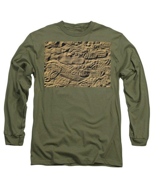 Shoe Prints Long Sleeve T-Shirt by R  Allen Swezey