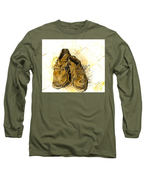 Long Sleeve T-Shirt featuring the photograph Shoes by John Stephens