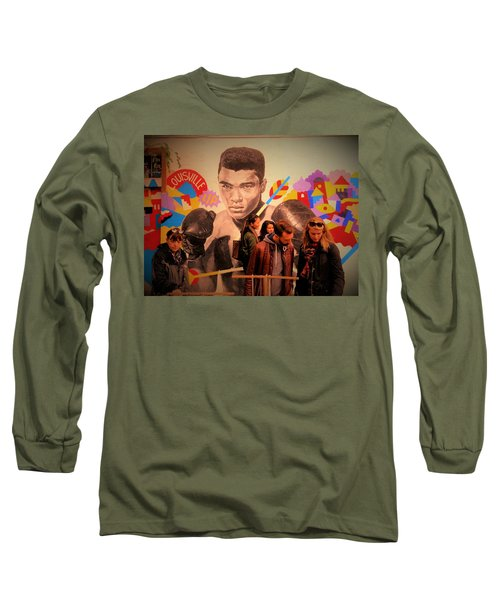 Shopping In Brooklyn With Mohamed Ali Long Sleeve T-Shirt