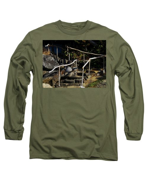 Shoreline Steps  Long Sleeve T-Shirt by Anne Havard