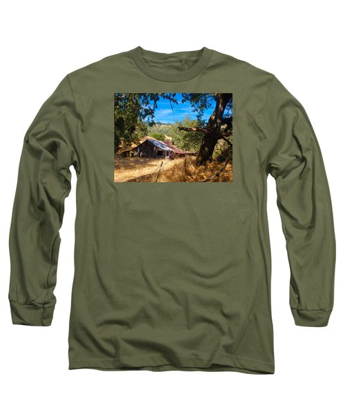 Long Sleeve T-Shirt featuring the photograph Short Legged Barn by Laura Ragland