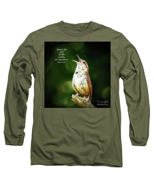 Long Sleeve T-Shirt featuring the photograph Shout For Joy by Kerri Farley
