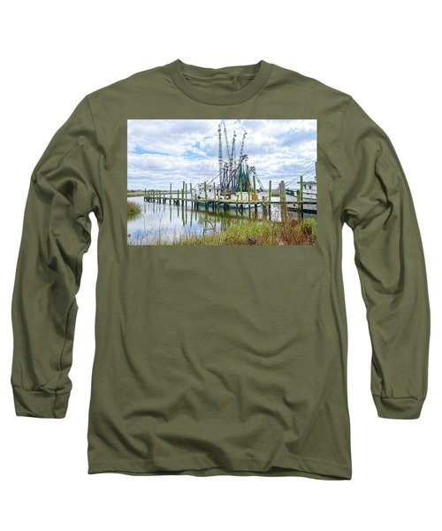 Shrimp Boats Of St. Helena Island Long Sleeve T-Shirt