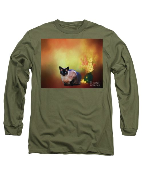 Siamese If You Please Long Sleeve T-Shirt by Suzanne Handel