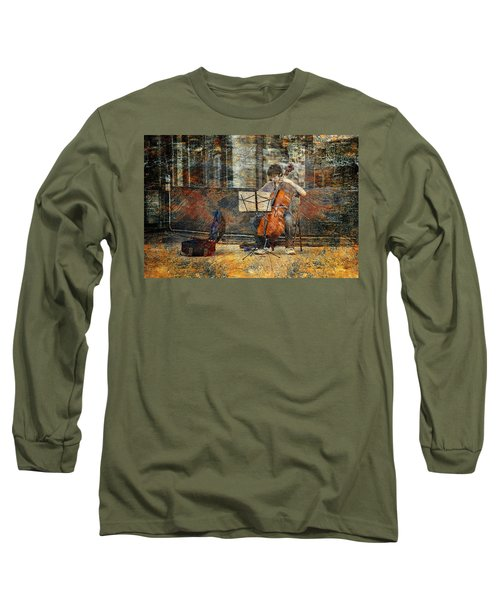 Sidewalk Cellist Long Sleeve T-Shirt