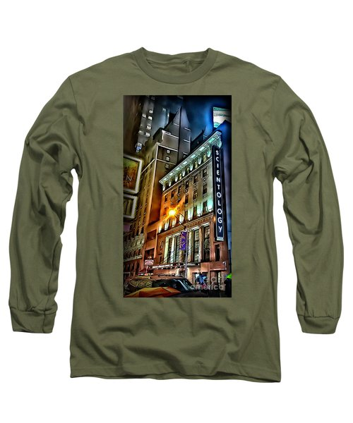 Long Sleeve T-Shirt featuring the photograph Sights In New York City - Scientology by Walt Foegelle