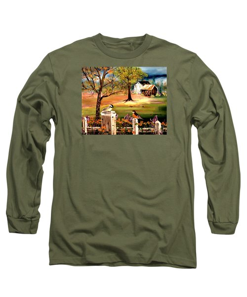 Signs Of Spring Long Sleeve T-Shirt by Denise Tomasura