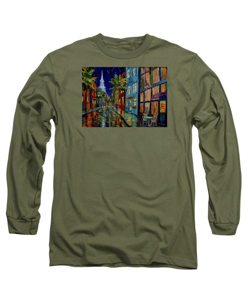Silent Night Long Sleeve T-Shirt by Dorothy Allston Rogers