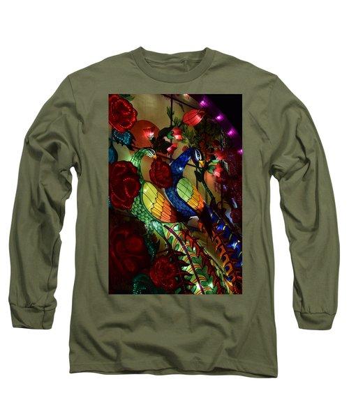 Silk Peacocks Long Sleeve T-Shirt