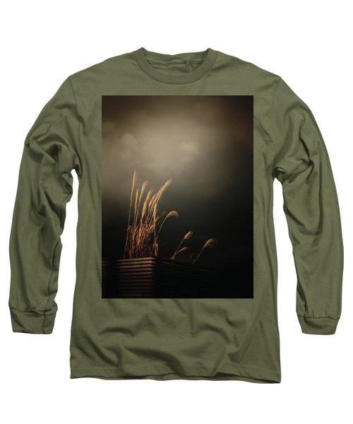 Silver Grass Long Sleeve T-Shirt by Rachel Mirror