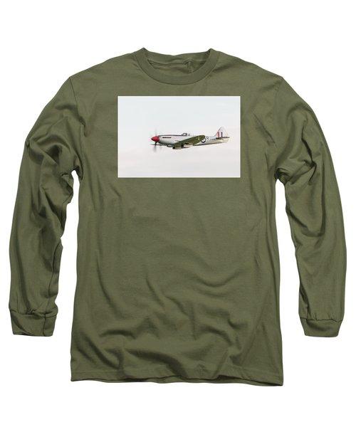 Silver Spitfire Fr Xviiie Long Sleeve T-Shirt by Gary Eason