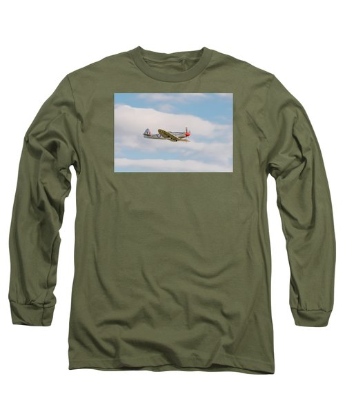 Silver Spitfire Long Sleeve T-Shirt by Gary Eason