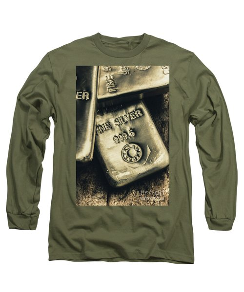 Silver Stackers Artwork Long Sleeve T-Shirt