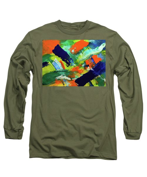 Long Sleeve T-Shirt featuring the painting Simple Things by Everette McMahan jr