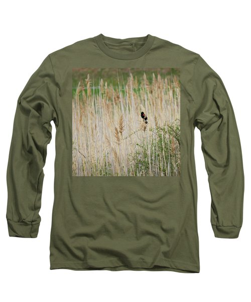 Long Sleeve T-Shirt featuring the photograph Sing For Spring Square by Bill Wakeley