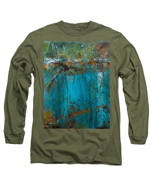 Long Sleeve T-Shirt featuring the painting Singin' With Blues by Mary Sullivan