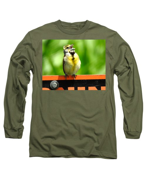 Singing Dickcissel Long Sleeve T-Shirt