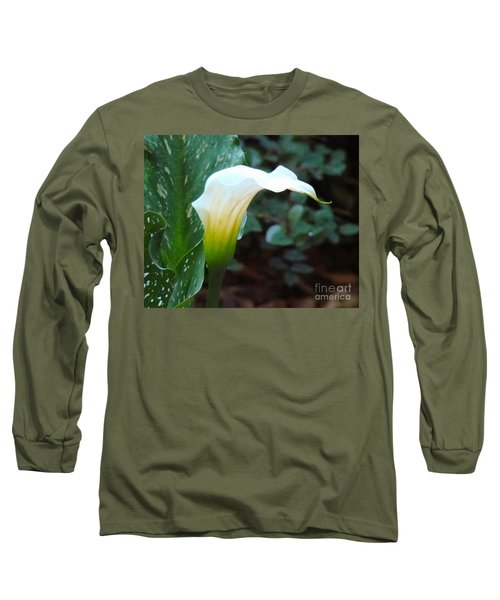 Long Sleeve T-Shirt featuring the photograph Single Lily  by Rand Herron