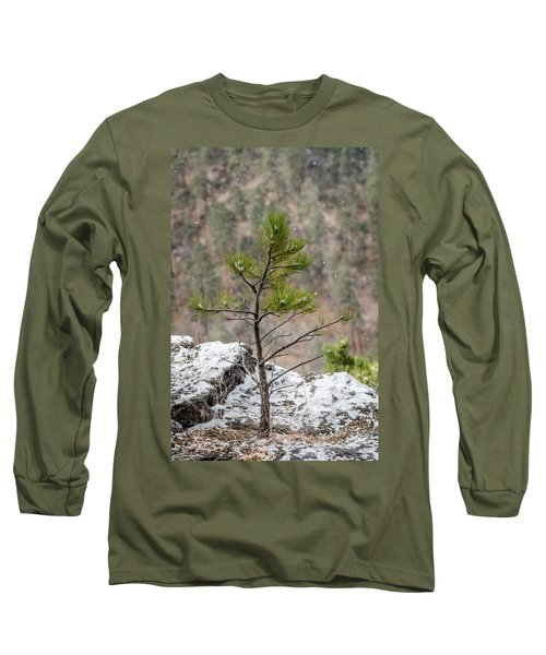 Single Snowy Pine Long Sleeve T-Shirt