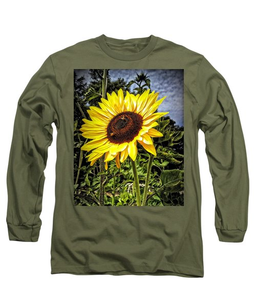 Single Sunflower Long Sleeve T-Shirt