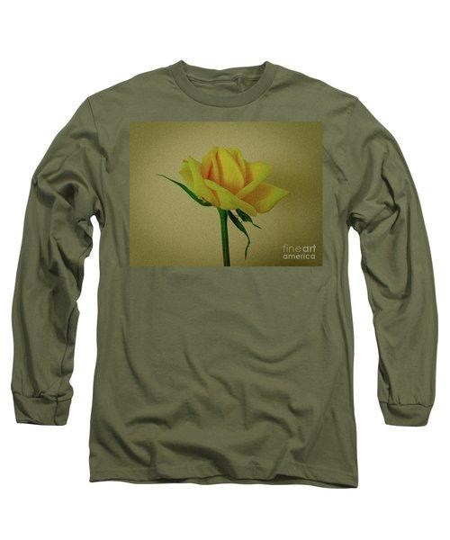 Single Yellow Rose Long Sleeve T-Shirt