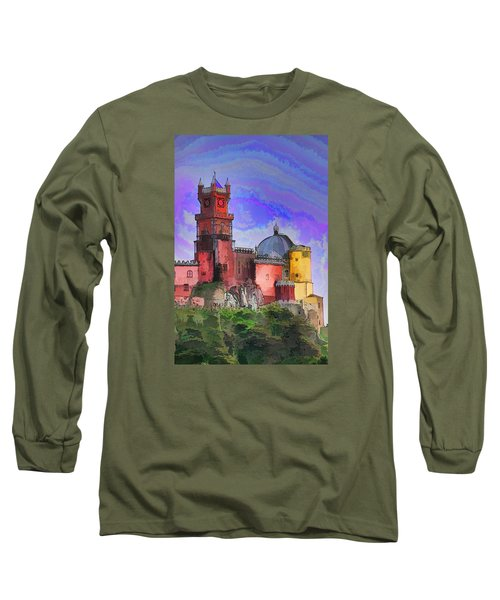 Long Sleeve T-Shirt featuring the photograph Sintra Palace by Dennis Cox WorldViews