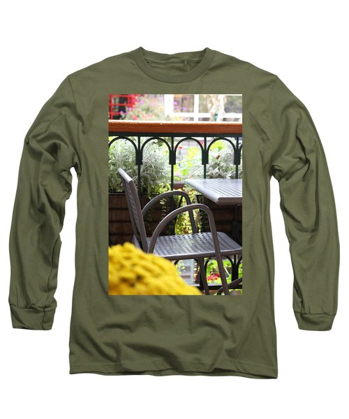 Long Sleeve T-Shirt featuring the photograph Sit A While by Laddie Halupa