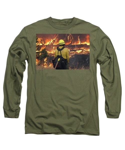 Long Sleeve T-Shirt featuring the photograph Legion Lake Fire by Bill Gabbert