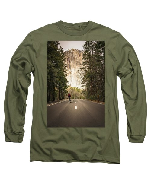Skating Amongst The Giants Long Sleeve T-Shirt