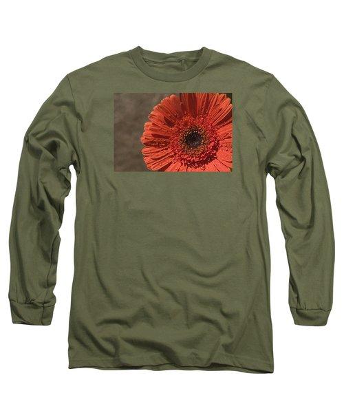 Skc 5127 The Heart Of The Gerbera Long Sleeve T-Shirt by Sunil Kapadia