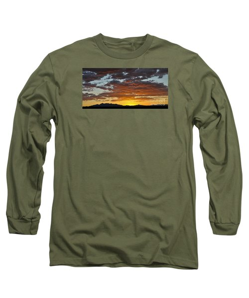 Long Sleeve T-Shirt featuring the photograph Skies Of Gold by Gina Savage