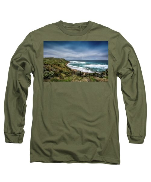 Long Sleeve T-Shirt featuring the photograph Sky Blue Coast by Perry Webster