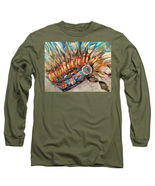 Sky Feather Detail Long Sleeve T-Shirt