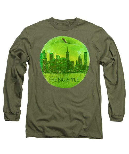 Skyline Of The Big Apple, New York City, United States Long Sleeve T-Shirt
