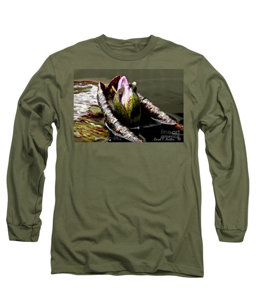 Sleeping Beauty In Water Lily Pond Long Sleeve T-Shirt by Carol F Austin