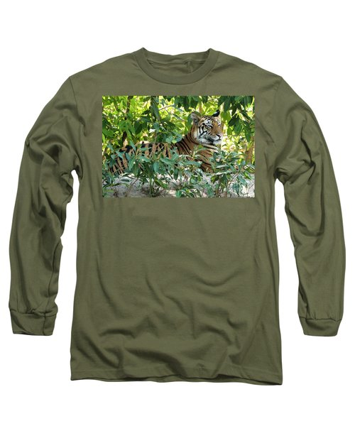 Sleepy Cat Long Sleeve T-Shirt by Pravine Chester