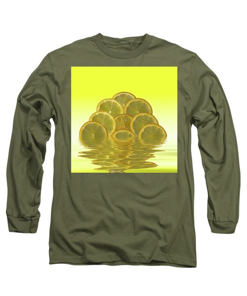 Slices Lemon Citrus Fruit Long Sleeve T-Shirt by David French