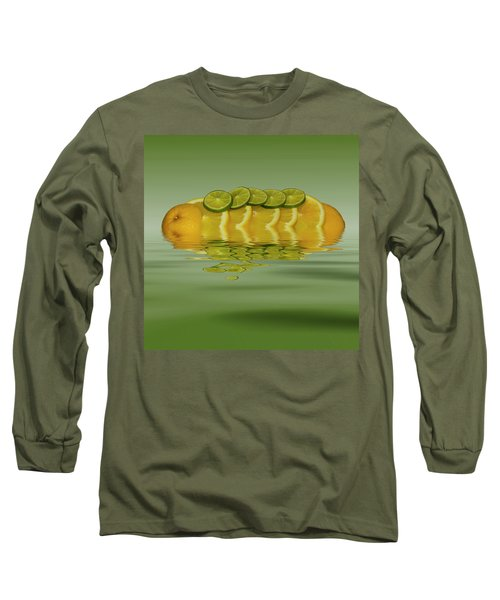 Long Sleeve T-Shirt featuring the photograph Slices Orange Lime Citrus Fruit by David French