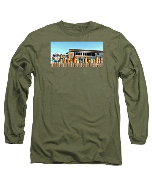 Sloppy Tuna Restaurant, Montauk Long Island Long Sleeve T-Shirt