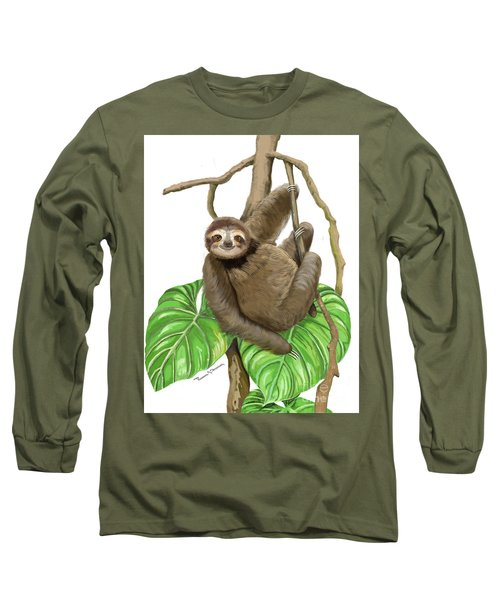 Hanging Three Toe Sloth  Long Sleeve T-Shirt